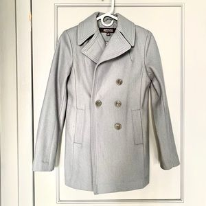 Kenneth Cole Coat Grey Wool